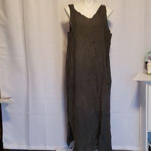 Cynthia Ashby Gray Linen Dress size Large